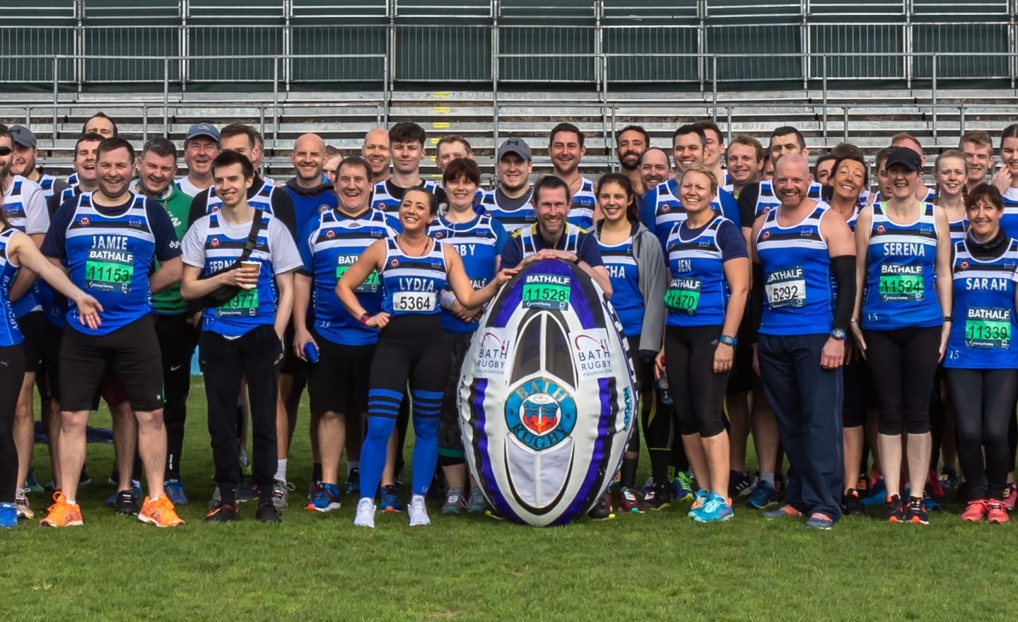 Members of Bath Rugby Foundations Bath Half team 2019