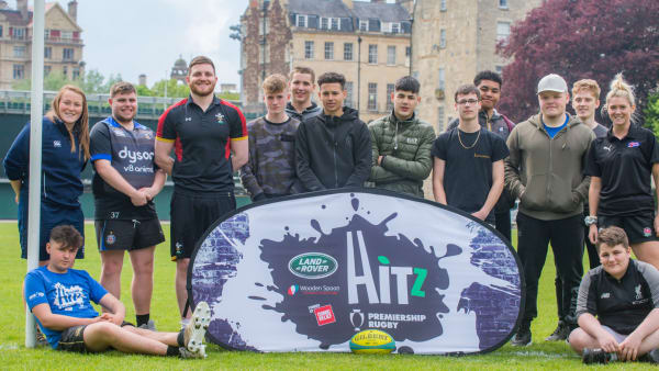 Young participants on the Bath Rugby HITZ programme