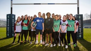 Rugby World Cup winner Maggie Alphonsi teams up with Bath Rugby Foundation apprentice to celebrate International Women's Day
