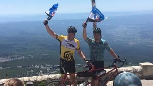 Tandem duo conquer Tour de France peak four times in 24 hours for Bath Rugby Foundation